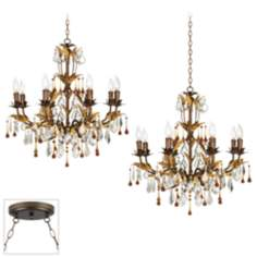 Venezia Golden Bronze Double Swag Chandelier