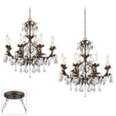 Venezia Bronze Double Swag Chandelier