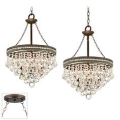 Regina Crystal Bronze Double Swag Chandelier