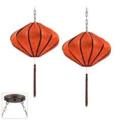 Song Orange Bronze Double Swag Chandelier