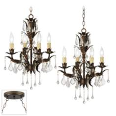 Venezia 8-Light Bronze Double Swag Chandelier