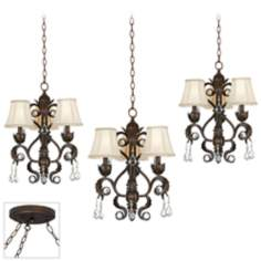 Ramas de Luces Bronze Triple Swag Chandelier