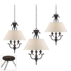 Ginger Black Bronze Triple Swag Chandelier