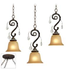 Kathy Ireland Rama de Luces Bronze Triple Swag Chandelier