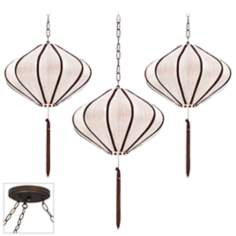 Song Ivory Bronze Triple Swag Chandelier