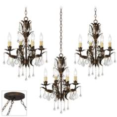 Venezia 12-Light Bronze Triple Swag Chandelier