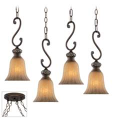 Sterling Estate Bronze 4 Swag Chandelier