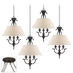 Ginger Black Bronze 4 Swag Chandelier
