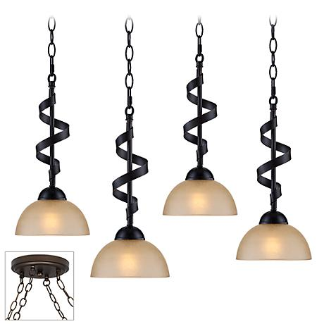 Bronzeador Bronze 4-Light Multi Light Pendant