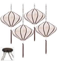 Song Ivory Bronze 4 Swag Chandelier