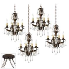Venezia 16-Light Bronze 4 Swag Chandelier