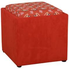 Paul Frank Love Storage Ottoman in Red