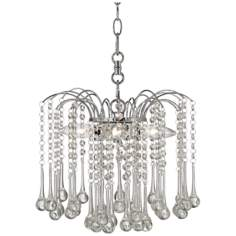 "Beatrix Clear Crystal 12"" Wide Swag Plug-In Chandelier"