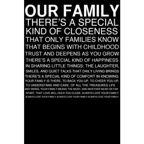 "Family Rules White on Black 30"" High Motivational Wall Art"