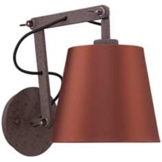 "Westbrook Rust 8"" High Aluminum Wall Sconce"