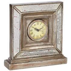 Antique Gold Mirror Table Clock