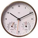 "White 6"" Wide Weather Station Wall Clock"