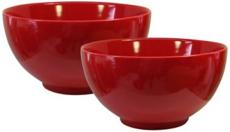 Set of 2 Fun Factory Red Serving Bowls (Y0655) Y0655