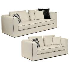 Ventini White Italian Sofa and Loveseat Set