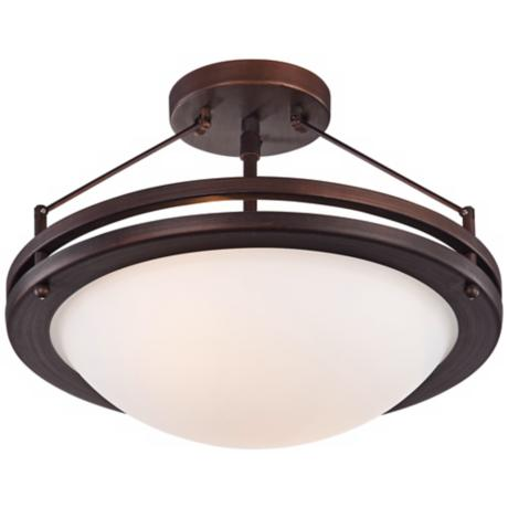 "Justin 13"" Wide Bronze Ceiling Light"