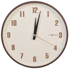 "Decomates Retro 9 3/4"" Wide Silent Bronze Wall Clock"