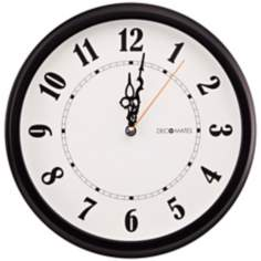 "Decomates Classic Hands 10 1/4"" Wide Silent Wall Clock"