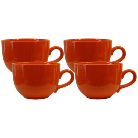 Set of 4 Fun Factory Orange Jumbo Cups