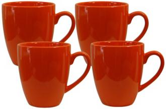 Set of 4 Fun Factory Orange Cafe Latte Cups (Y1010) Y1010