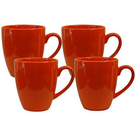 Set of 4 Fun Factory Orange Cafe Latte Cups