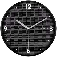 "Decomates Eclectic Black 9 3/4"" Wide Silent Wall Clock"