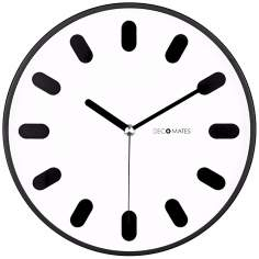 "Decomates Eclectic White 9 3/4"" Wide Silent Wall Clock"