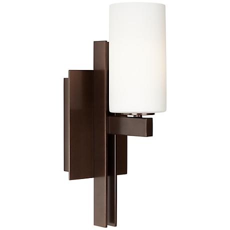 "Possini Euro Design 14"" High Ludlow Bronze Wall Sconce"