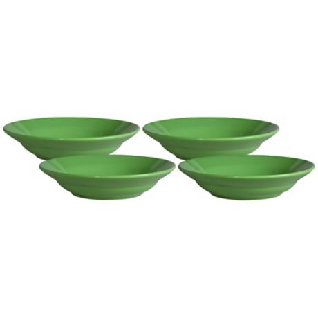 Set of 4 Fun Factory Green Apple Soup Plates
