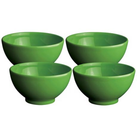 Set of 4 Fun Factory Green Apple Dipping Bowls