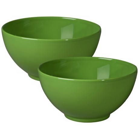 Set of 2 Fun Factory Green Apple Serving Bowls