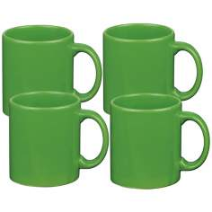 Set of 4 Fun Factory Green Apple Mugs