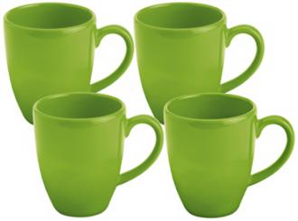 Set of 4 Fun Factory Green Apple Cafe Latte Cups (Y1058) Y1058