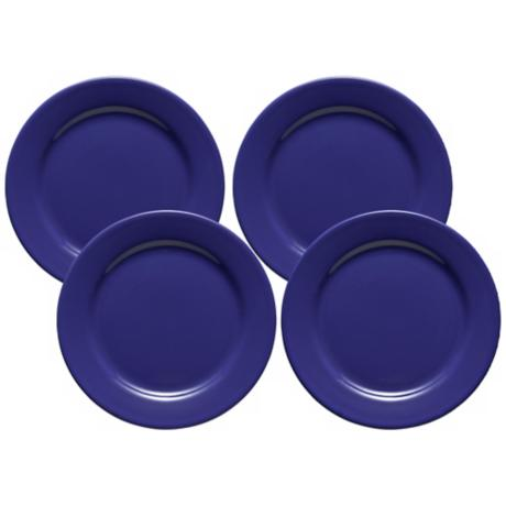 Set of 4 Fun Factory Royal Blue Salad Plates
