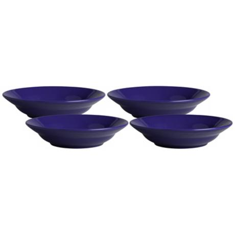 Set of 4 Fun Factory Royal Blue Soup Plates