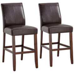 Set of 2 Carissa Brown Bar Stools