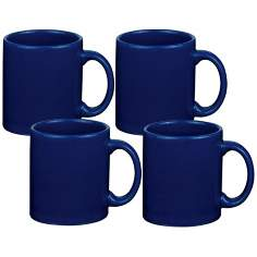 Set of 4 Fun Factory Royal Blue Mugs