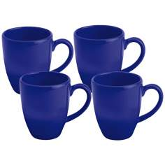 Set of 4 Fun Factory Royal Blue Cafe Latte Cups
