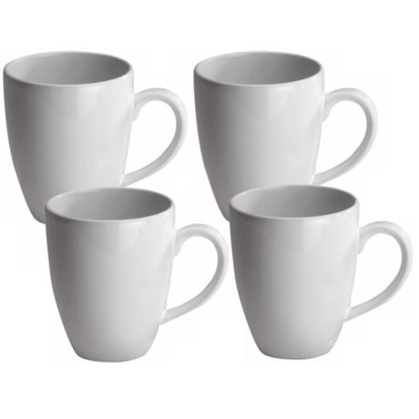 Set of 4 Fun Factory White Cafe Latte Cups