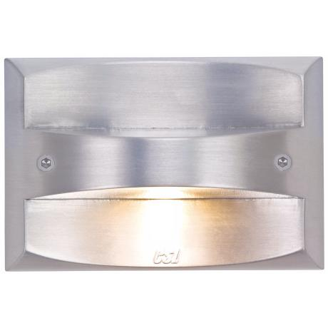 "Satin Aluminum 4 1/2"" Wide LED Rectangle Outdoor Step Light"