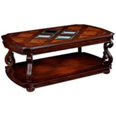 Harcourt Collection Rectangular Cherry Cocktail Table