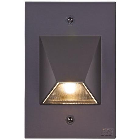 "Bronze Trapezoid 4 1/2"" High LED Outdoor Step Light"