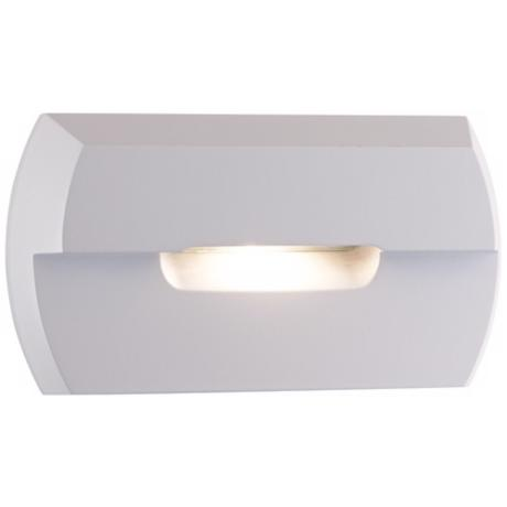 "Matte White 4 3/4"" Wide LED Step Light"