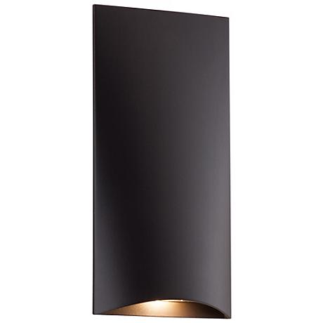 "Deep Bronze Vertical 4 3/4"" High LED Step Light"