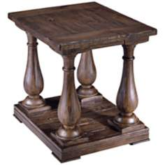 Densbury Collection Rectangular Natural Pine End Table