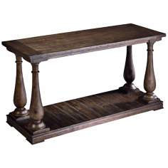 Densbury Collection Rectangular Natural Pine Sofa Table